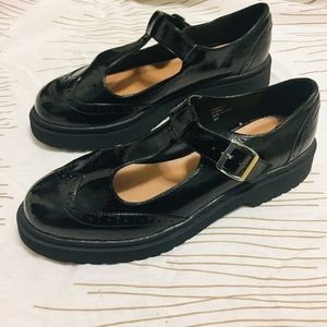 NWOT ASOS Patent leather chunky loafers